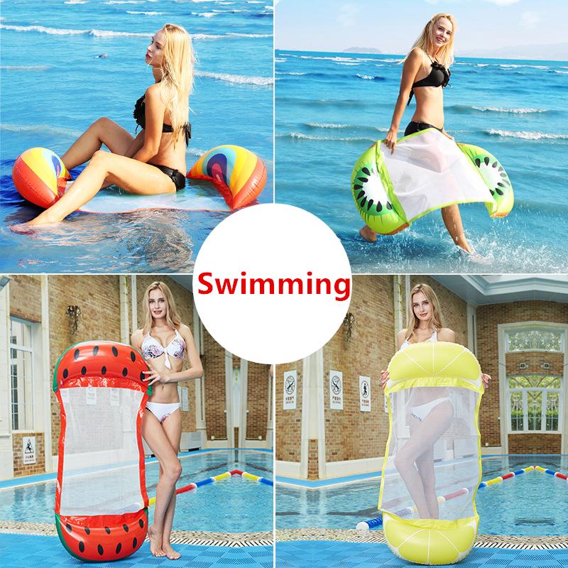 130cm Folding Lounge Chair Floating Inflatable Water Swimming Toy For Adult Pool Rafts Swimming Inflatable Toys