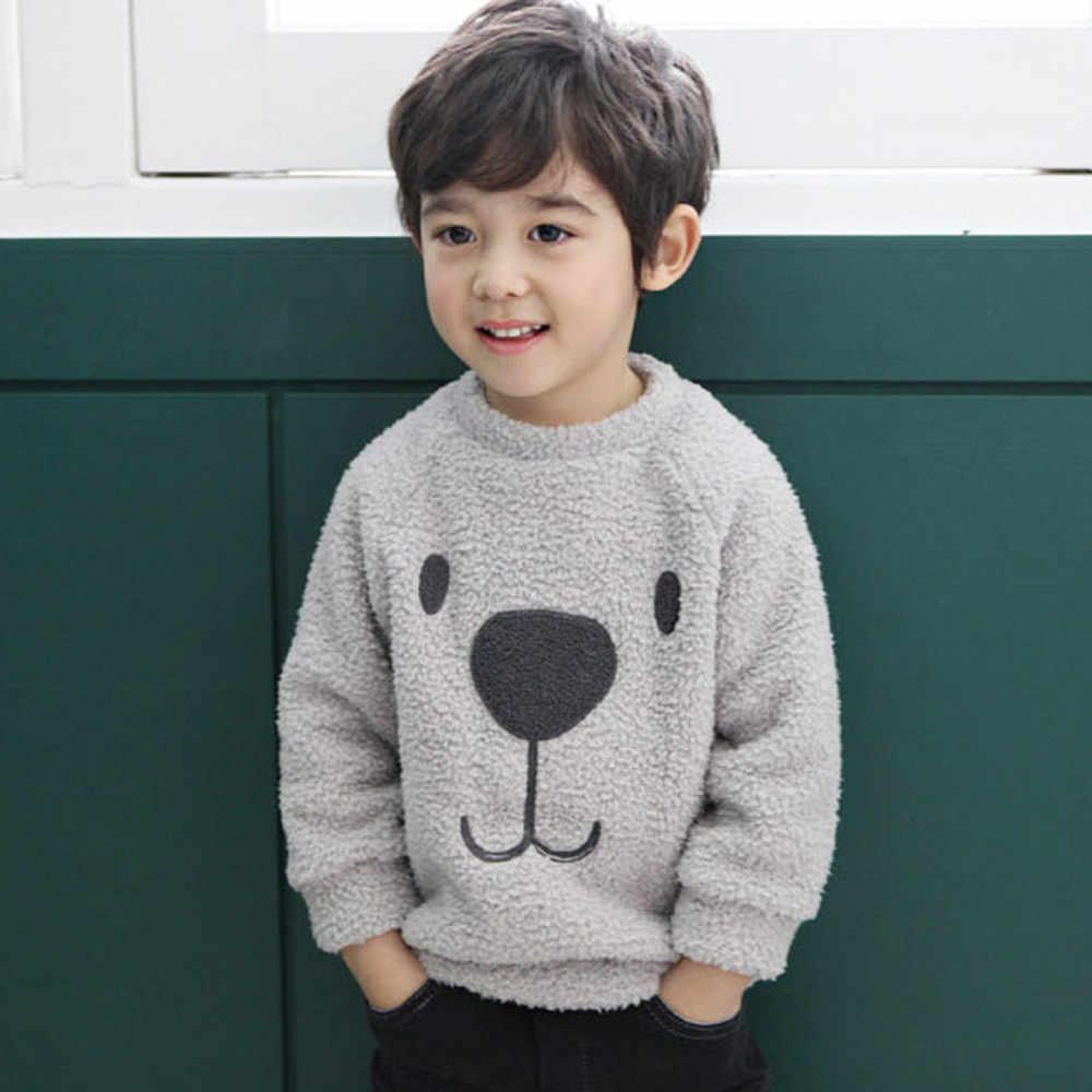 Jungen Mädchen Kleidung Dicken Pullover Mantel Schöne Cartoon Bär Kinder Baby, Kleinkind Warme Fleece Bluse T-shirt Pullover Kinder Mantel