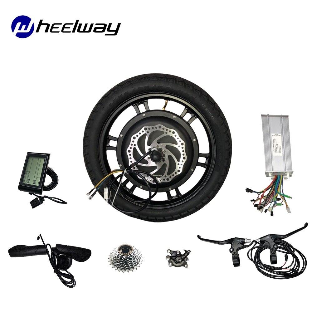 16 inch 48V 500W 1000W Hub Motor Kit Front Drive Hinten Stick BLDC Hub Motor Elektrische Fahrrad motor Disc Bremse Elektrische Roller Motor