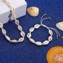 Hot Sale Summer Boho Sea Shells Pearl Necklaces Girls Rope Chain Choker Bracelet Elegant Simple Beach Jewelry Mother's Day Gift(China)