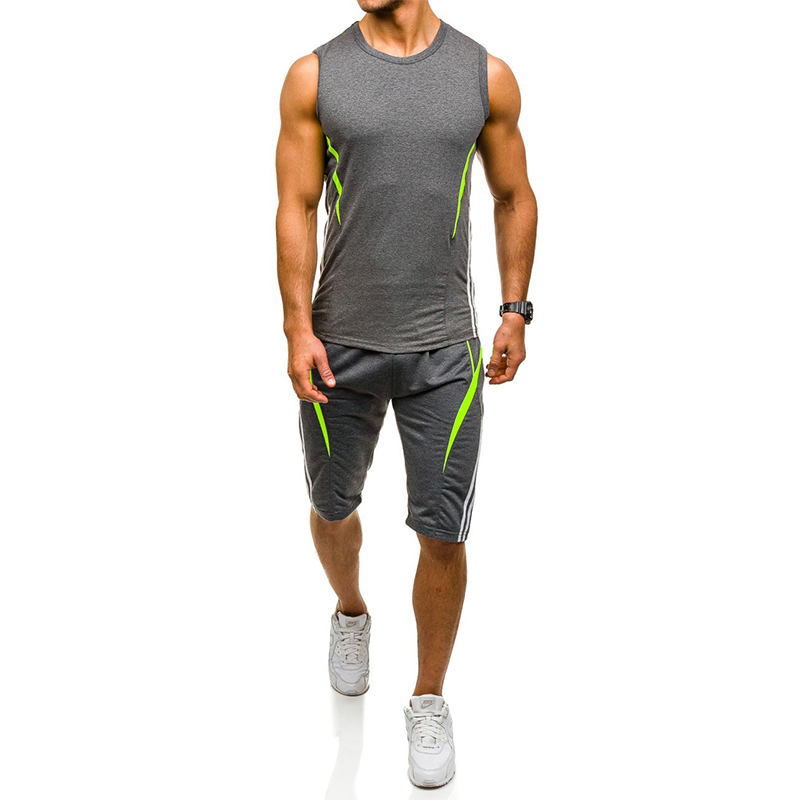 ZOGAA High Quality Sporting Suit Men 2019 Summer New Mens Tracksuit Two Piece Set Sleeveless Sweatshirt And Pants Sports Suit