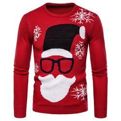 Мужской Повседневный свитер с круглым вырезом, Рождественский пуловер, вязаные свитера на осень и зиму