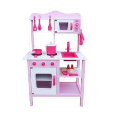 Kids Pretend Cooking Food Playset Play Wooden Kitchen for Girl(China)