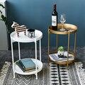 Железный журнальный столик небольшой боковой столик двухслойный поднос чайный журнальный столик мебель для гостиной боковой Диванный мин...