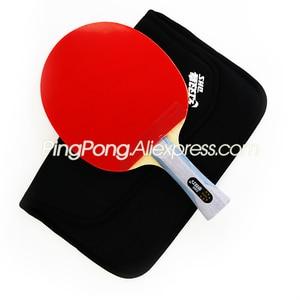 Image 4 - Dhs 6 Ster Tafeltennis Racket (6002, 6006) Met Rubber (Orkaan 8, Tinarc) + Tas Set Orignal Dhs 6 Star Ping Pong Bat