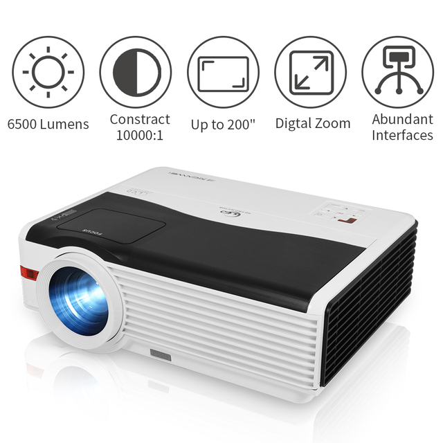 A9AB Beam Projector Home Theater Video Led 6000 Lumens Wireless Airplay Android Freeshipping Support Full Hd 1080P Projector 2