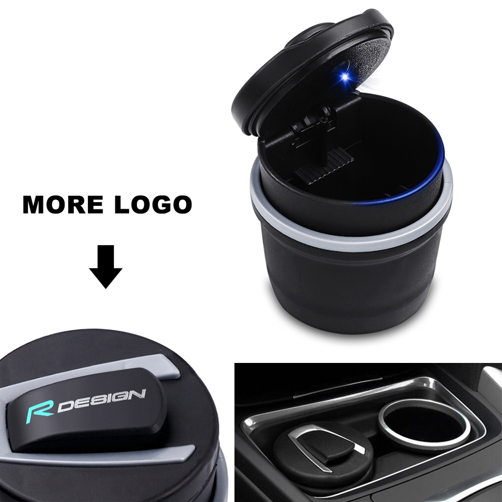 Rdesign Emblem Car Interior Ashtray For Volvo R DESIGN XC90 S60 CX60 V70 S80 V40 V50 S40 XC70 V60 C30 XC40 C70 S90 Accessories