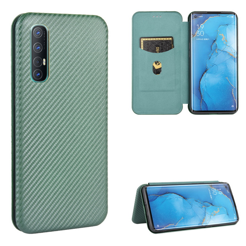 Luxury Carbon Fiber Leather <font><b>Wallet</b></font> <font><b>Case</b></font> Cover For <font><b>OPPO</b></font> A11 A11X A12 A91 A92S Realme 6 Pro <font><b>A5</b></font> AX5 A3S A9 <font><b>A5</b></font> A31 2020 Fundas Capa image