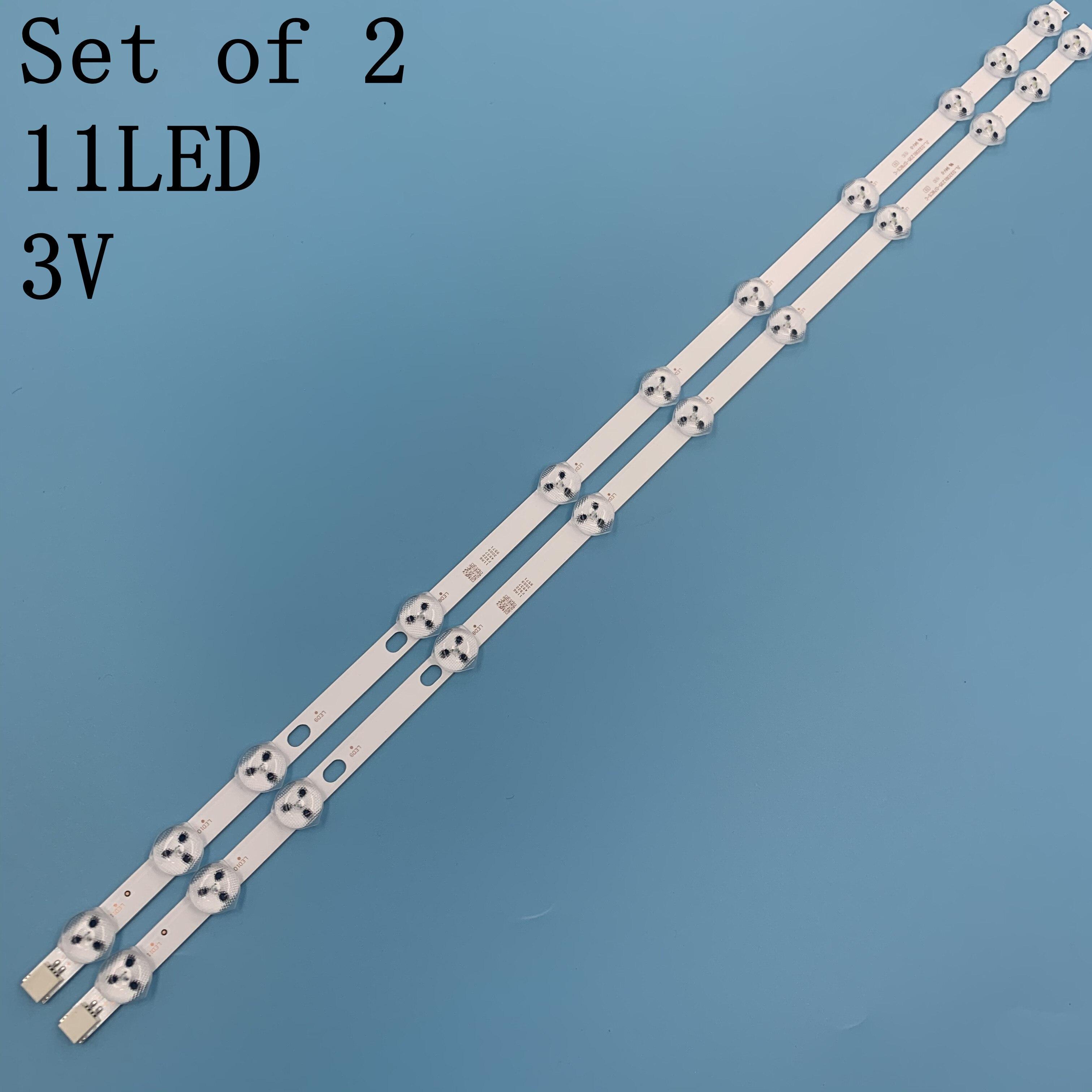 Tira de retroiluminação led de 575mm, 11 lâmpadas, 32182 32285 32 polegadas, kit de barras de televisão, faixas led innotek 32