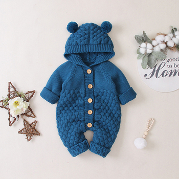LZH 2020 Autumn Infant Hooded Knitting Jacket For Baby Clothes Newborn Coat For Baby Boys Girl Jacket Winter Kids Outerwear Coat 20