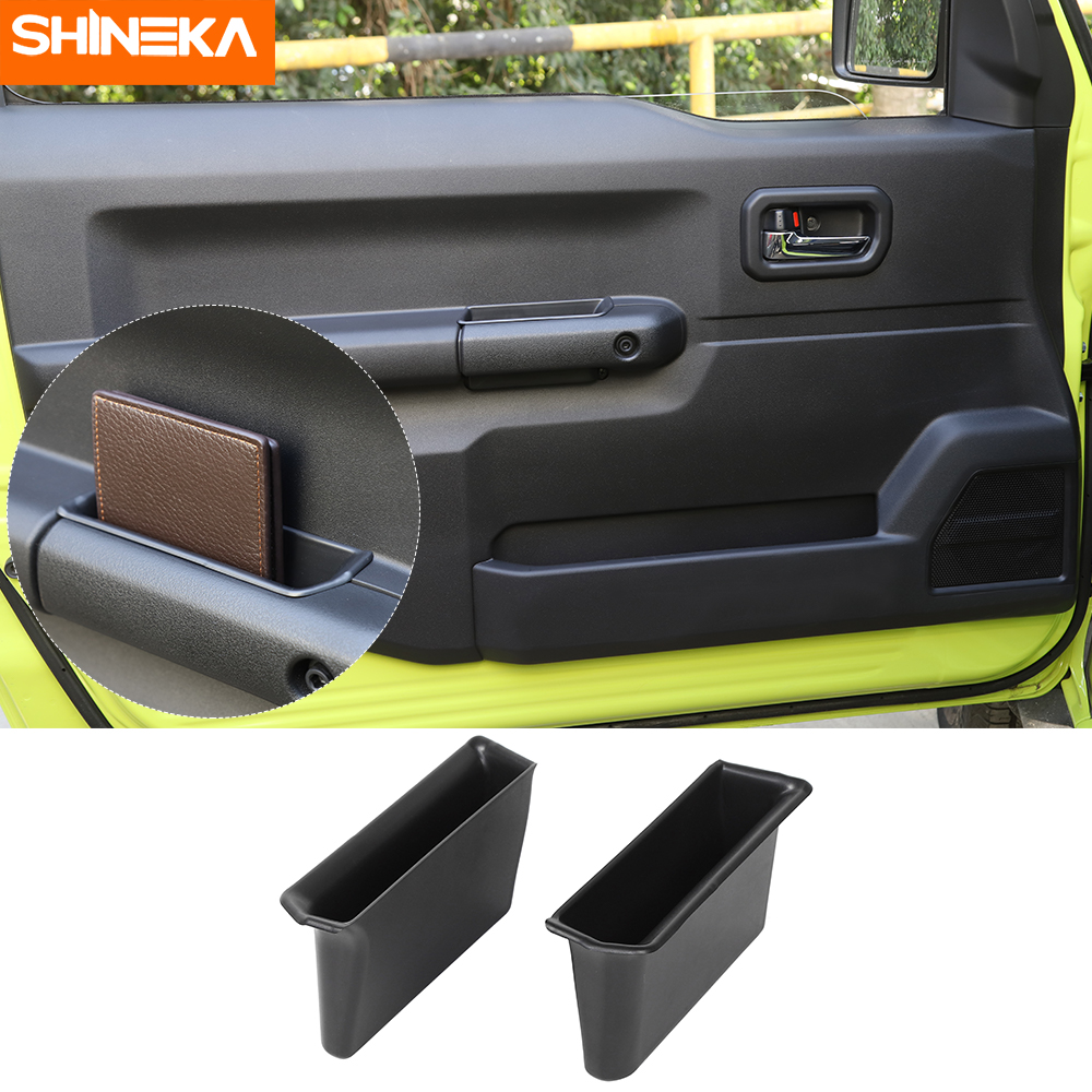 SHINEKA Stowing Tidying For Suzuki Jimny JB74 2019+ Car Door Armrest Storage Box Handle Pocket 2pcs protection For Suzuki Jimny(China)