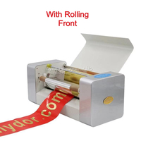 AMD 360A digital foil hot printing stamping machine ribbon foil printer with colorful rolls foil for option and rolling reel kit