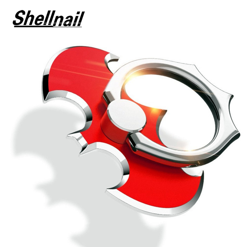 SHELLNAIL 360 Rotate Finger Ring Holder For Magnet Mobile Phone Stand Holders For IPhone X XS Xiaomi Universal Bat Phone Holder