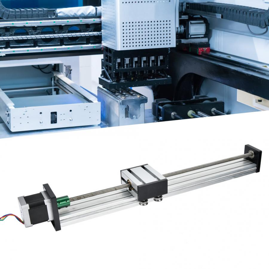 Aluminum Alloy 0808 Ball Screw Single-Shaft Trapezoid Linear Slide Rail with 57 Motor Linear Reciprocating Application