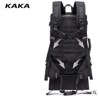 Kaka homens viagem trole mochila rolando bagagem sacos sobre rodas rodas mochila para a cabine de negócios viagem trole sacos - 2