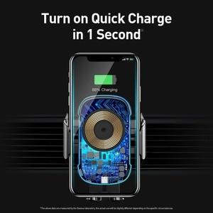 Image 4 - Baseus 15W Qi Auto Draadloze Oplader Auto Telefoon Voertuig Houder Elektrische Houder Draadloze Quick Charger Voor Iphone X Xs 8 Samsung S9