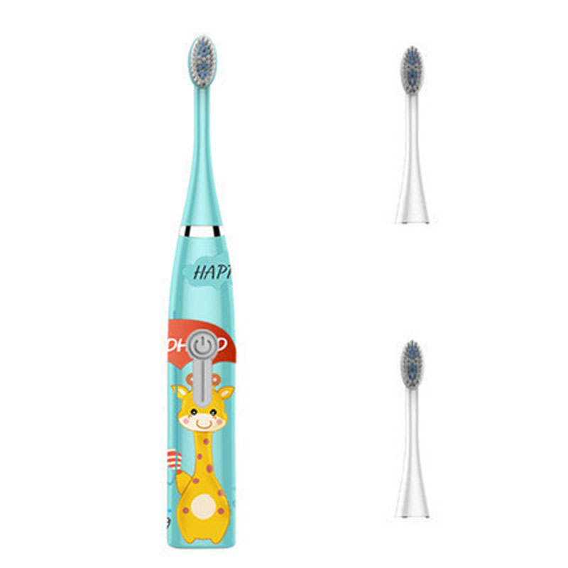 Professional Child Baby Sonic Electric Toothbrush quality kids toothbrush 2 clean head ultrasonic Cartoon makes children like