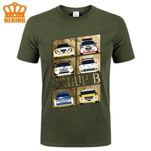 DIY пользовательские футболки группы B Новый дизайн новый раллийный автомобиль футболка мужская короткий рукав Roadster футболка с гонщиком раз...