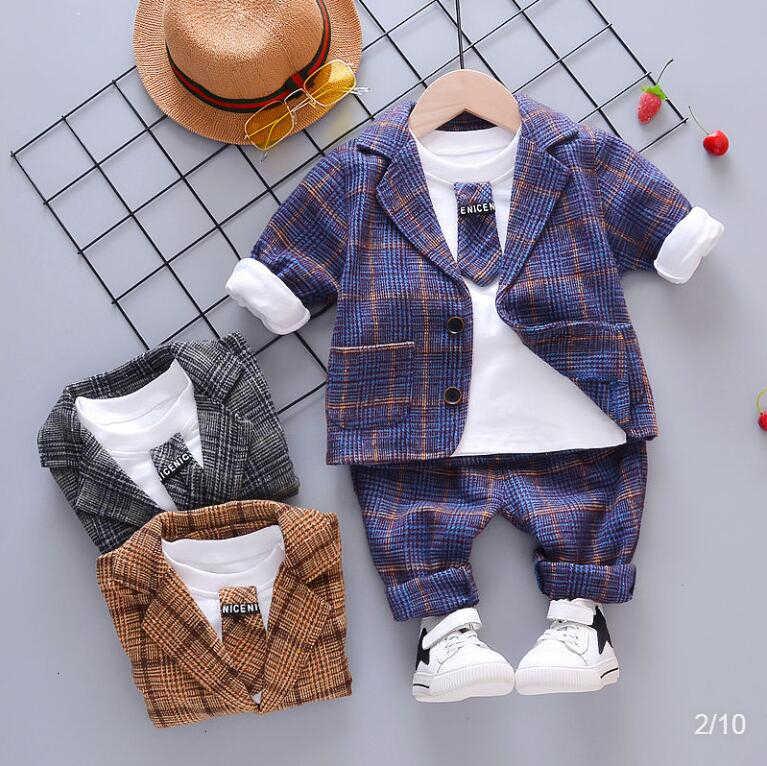 BibiCola 男の子服セットフォーマルな子供服戦士ボーイ紳士弓幼児の少年服セット誕生日ドレス学校の摩耗