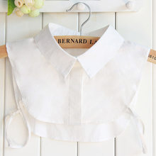 Linbaiway – Faux colliers en dentelle pour femmes, pull détachable, vêtements, chemisier, cravate, accessoires de chemise à revers