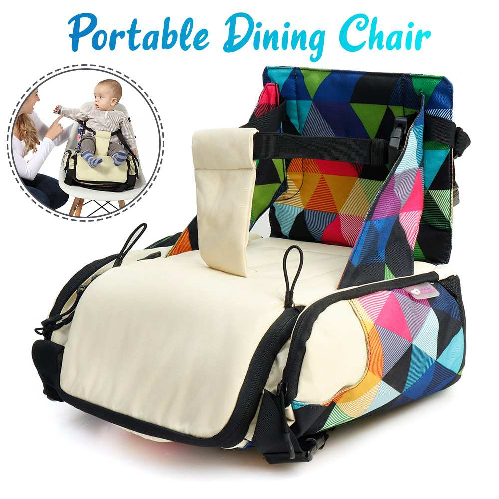 Portable Dining Chair Mummy Bag Folding Baby Travel Booster Seat Kids Diaper Bag Newborns Nursing Dining Feeding Safety Seat