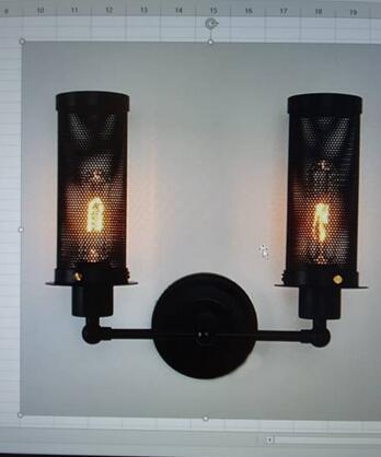 2 heads wall light