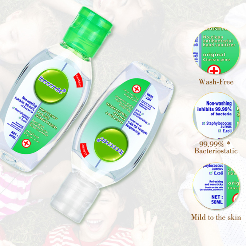 50ml Rinse-free Hand Sanitizer Gel 75% Alcohol Sanitizer Gel Quick-drying Hands Disinfectant Gels Disposable Dezinfection Hand