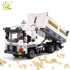 Image 2 - HUIQIBAO 799pcs Technic Engineering Dump Truck Building Blocks Vehicle Car Bricks Set Educational DIY Toys for Children Boys