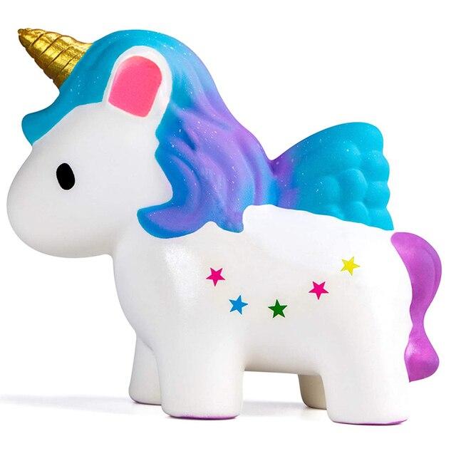 Jumbo Squishy Kawaii Unicorn Horse Cake Deer Animal Panda Squishies Slow Rising Stress Relief Squeeze Toys for Kids 2