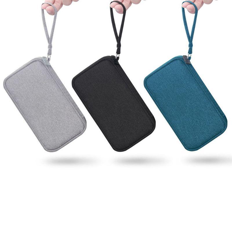 Sac de stockage Durable de poche de batterie externe de Polyester Mini étui de protection de transport portable de voyage pour les données de téléphones portables d'écouteurs C