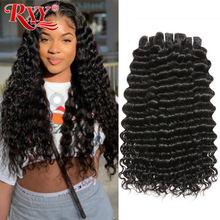 Human-Hair-Bundles Deep-Wave Weave Brazilian-Hair 3pcs/Lot 100%Remy
