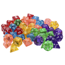Creative Game Dice D&D Colorful Multicolor Dice Mixed 7pcs/set