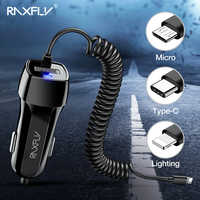 Chargeur de voiture USB RAXFLY Type C pour Huawei Mate 20 P30 Lite pour iphone USB charge rapide pour iphone 11 Pro chargeurs de téléphone Portable