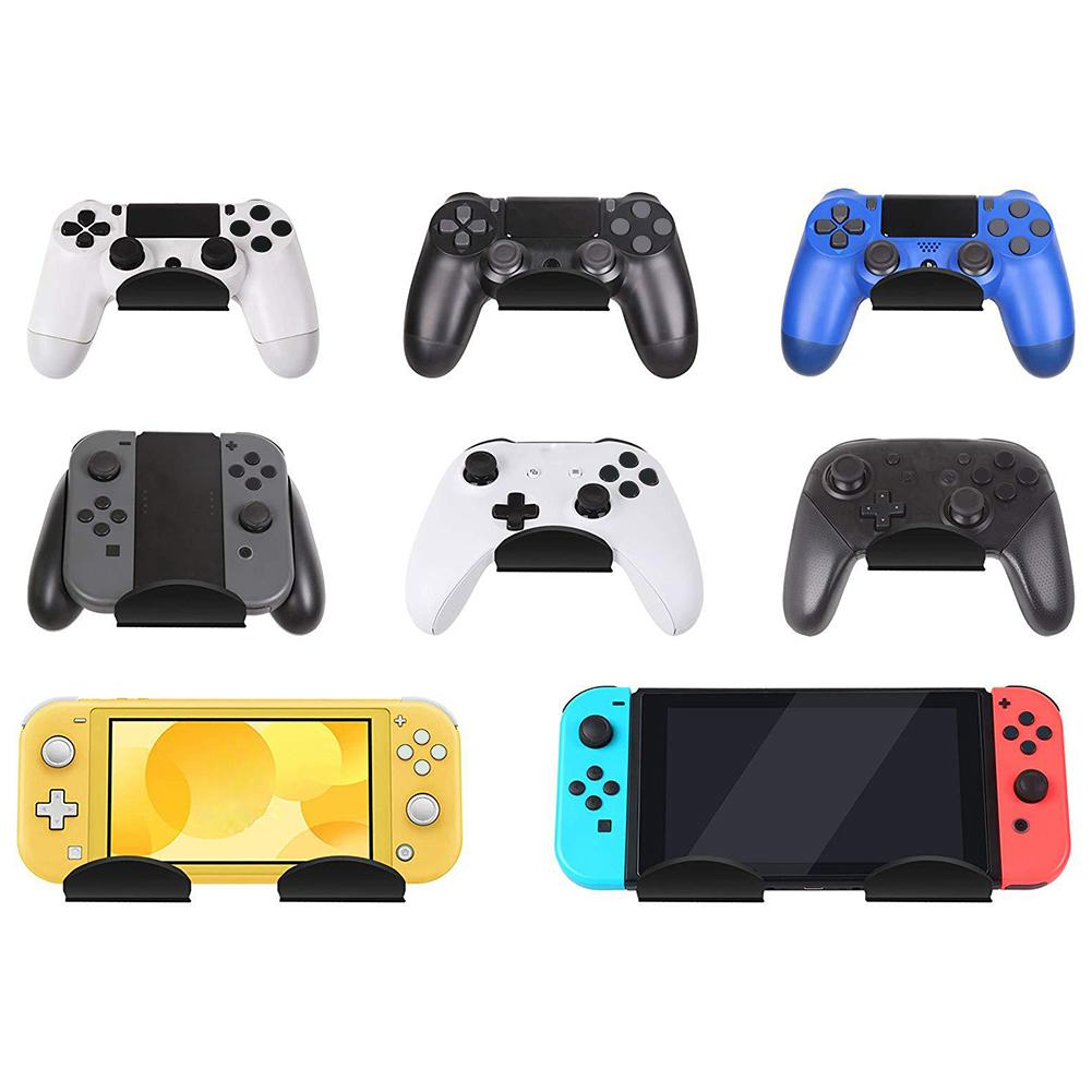 Game Controller <font><b>Wall</b></font> <font><b>Mount</b></font> Stand Holder For Xbox <font><b>PS4</b></font> Switch Pro Acrylic Video With Black Cable Clips Game Controller Accessories image