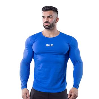 Koszulka sportowa koszule bawełniane mężczyźni kulturystyka odzież sportowa koszulka męska z długim rękawem siłownie do biegania koszulka męska Fitness Tight T-shirt tanie i dobre opinie KAIERKANG COTTON Pasuje prawda na wymiar weź swój normalny rozmiar Wiosna Lato AUTUMN sports leisure fashion fitness