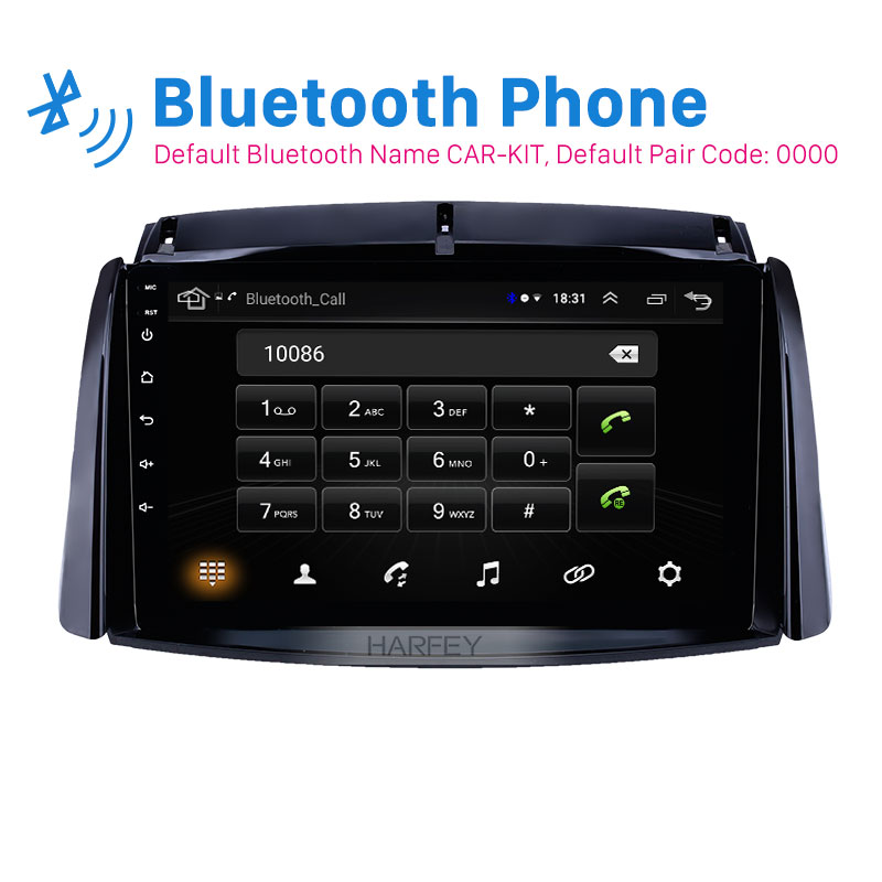Harfey автомобильный 2Din Navi 9 Android 8,1 стерео блок для Renault Koleos 2009 2010-2016 gps USB AUX поддержка Carplay DVR OBD Цифровое ТВ image