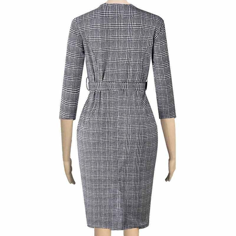 Африканская женская одежда женские серьги-капельки офисные платья женские винтажные молнии Bodycon 2XL плюс размер осеннее платье миди 2019