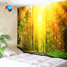 Boho Decor Wall Tapestry Psychedelic Sun Forest Hippie Indian Mandala Hanging tapiz pared tela Beach Throw Rug New