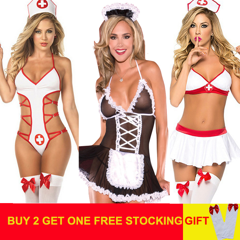 Sexy Women Porno Lingerie Hot Babydoll Erotic Lingerie Sexy Dress Plus Size Lenceria Sexi Erotic Costumes Underwear For Sex(China)