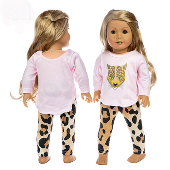 High quality Suit fits for American18 girl doll alexander doll leopard Set Clothes baby gift baby alexander
