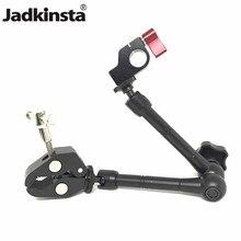 """Jadkinsta 11 """"pouces bras magique articulé + 15mm pince à tige + grande pince Super pince grand crabe pince HDMI moniteur lumière LED"""