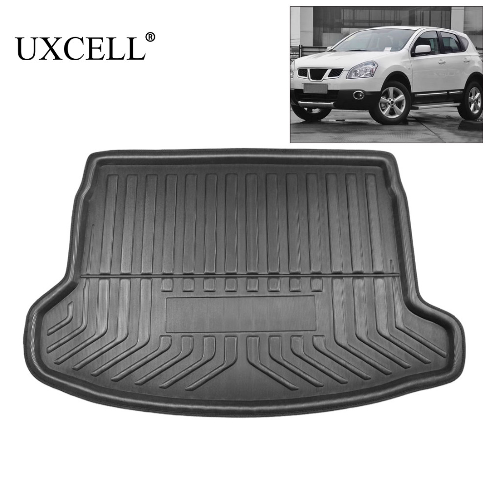 UXCELL Rear Car Trunk Boot Liner Cargo Mat Floor Carpet Tray Cover Pad For Nissan Qashqai Xterra Pulsar Sedan Versa 2007 TO 2018