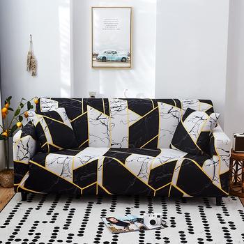 Elastyczne narzuta na sofę zestaw dla sofa do salonu ręcznik antypoślizgowe narzuta na sofę s dla zwierząt stretch sofa Slipcover tanie i dobre opinie S-EMIGA 90-140cm 145-185cm 190-230cm 235-300cm Rozkładana okładka Drukowane Nowoczesne Floral Podwójne siedzenia kanapa