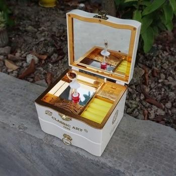 Music Box Birthday Gift For Girl Ballerina Jewelry Box Mirror Play Birthday For Kids