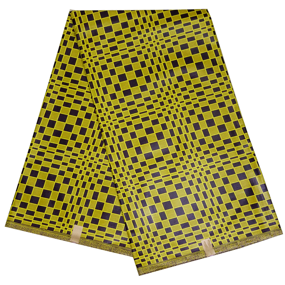 Yellow 100% Cotton African Fabric African Printed Real Wax Fabric For Party Dress 6Yards\lot