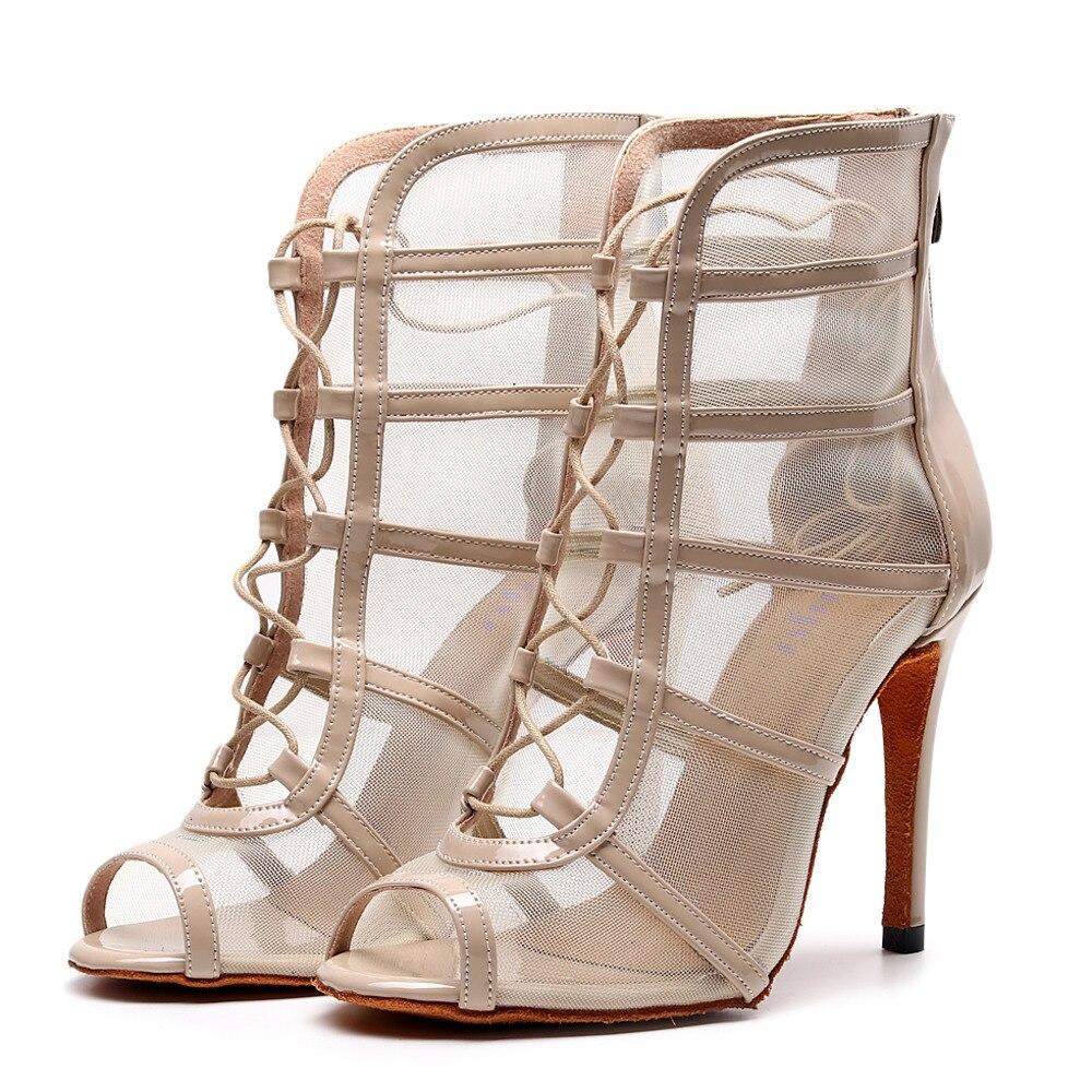Customizable Salsa Jazz Ballroom Latin Dance Shoes For Dancing Women Modern High Heels Baile Boot 1028 Summer Boots