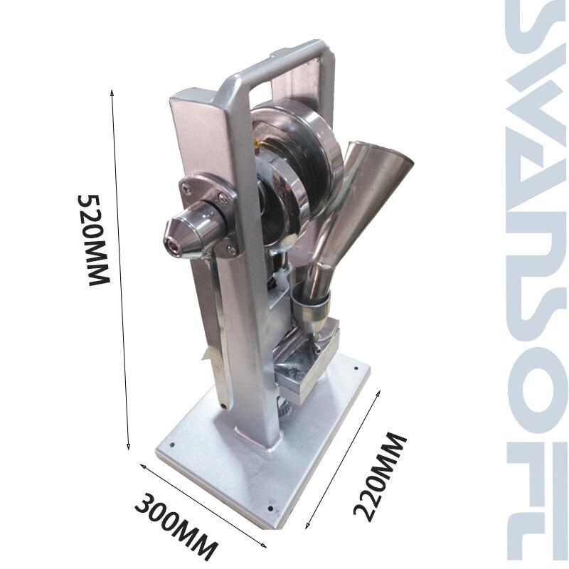 SWANSOFT heißer verkauf manuelle einzigen schlag tablet presse/pille presse/pille, der/TDP-0/hand- betrieben/mini typ