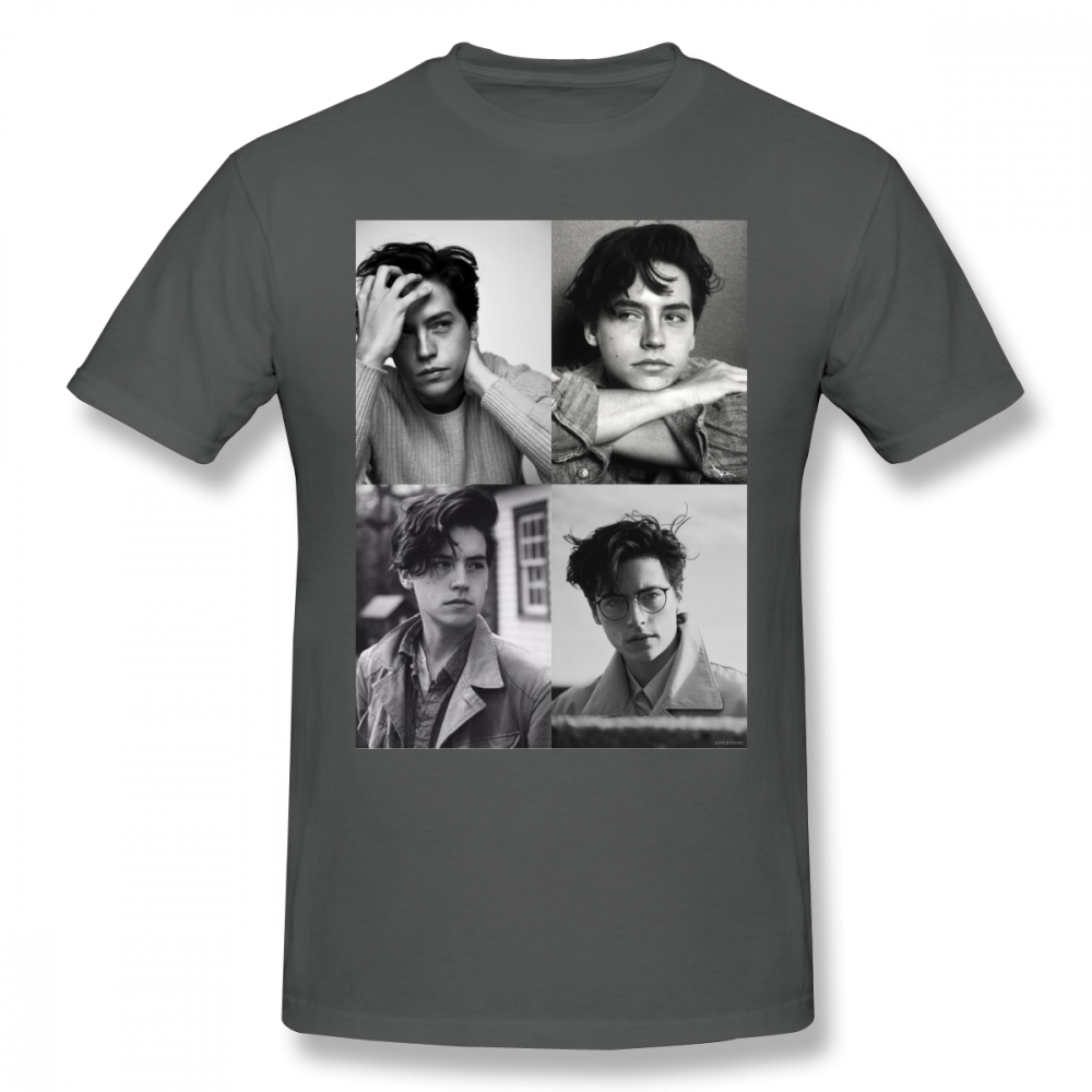 Cole Sprouse T Shirt Cole Sprouse Collage B W T Shirt Male Cotton Tee Shirt Classic Printed Fun Plus size Short Sleeve Tshirt in T Shirts from Men 39 s Clothing
