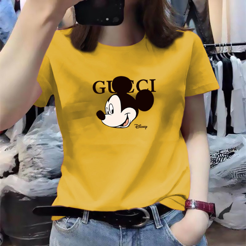 DISNEY women t shirt Mickey short sleeved T shirt women's summer 2020 new slim body femme t shirts Mickey Mouse top 6 color|T-Shirts| - AliExpress