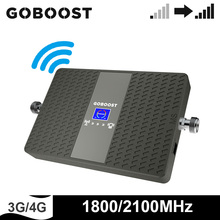 Wzmacniacz sygnału GOBOOST 3g 4g wzmacniacz sieciowy LTE 1800 2100 MHz telefon komórkowy dwuzakresowy wzmacniacz zespołu 1 zespół 3